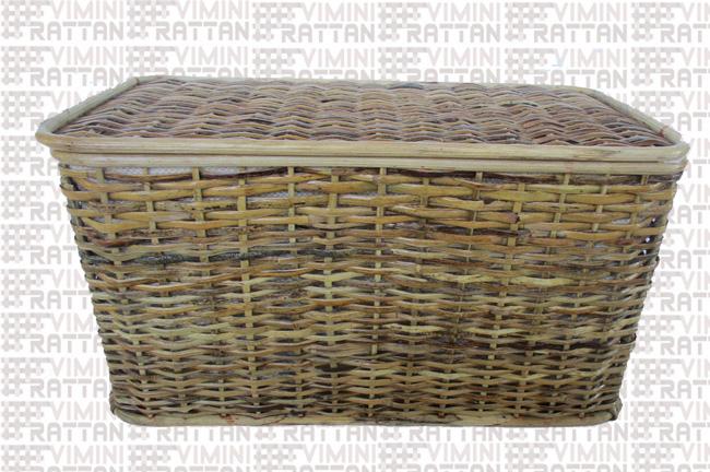 Bauli In Rattan Sintetico.26 0064 1 Cesto Portabiancheria Baule Vimini In Rattan Cesto