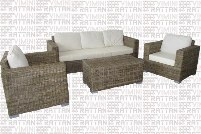 Mobili In Rattan Naturale.Salotto Rattan Croco 5 Posti Arredamento Giardino Salotto In Rattan