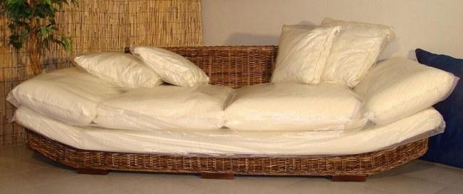 Divano in banano cm 235x87x58 h divano in banano arredamento da esterno mobili da giardino - Divano in banano ...