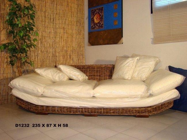 Divano in banano cm 235x87x58 h divano in banano arredamento da esterno mobili da giardino - Divano in vimini ...