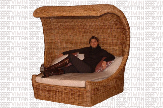 POLTRONA IN RATTAN NATURALE RELAX
