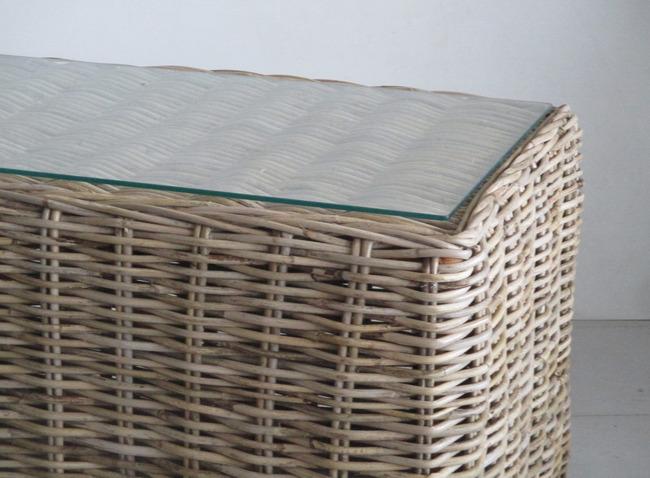 Mobili Vimini E Giunco.Tavolino In Vimini E Giunco Naturale Cm 70x50x40h Tavolino In