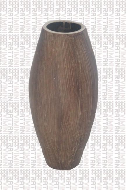 Salotti In Finto Rattan.Vaso In Terracotta Finto Legno Altezza Cm 75 Vaso In Terracotta